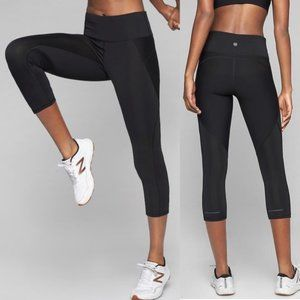 Athleta Stealth Black Capri Tights Leggings Small